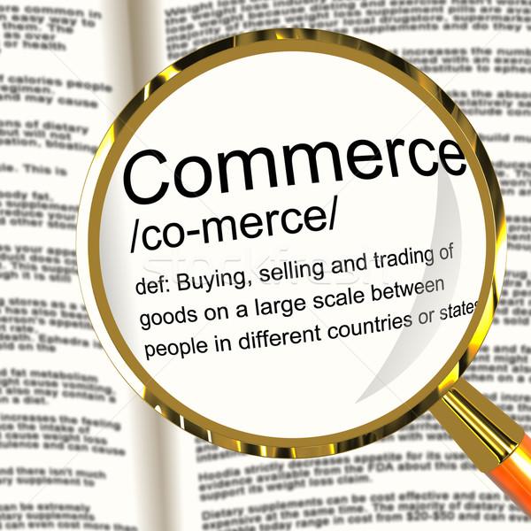 Photo stock: Commerce · définition · loupe · commerce · achat