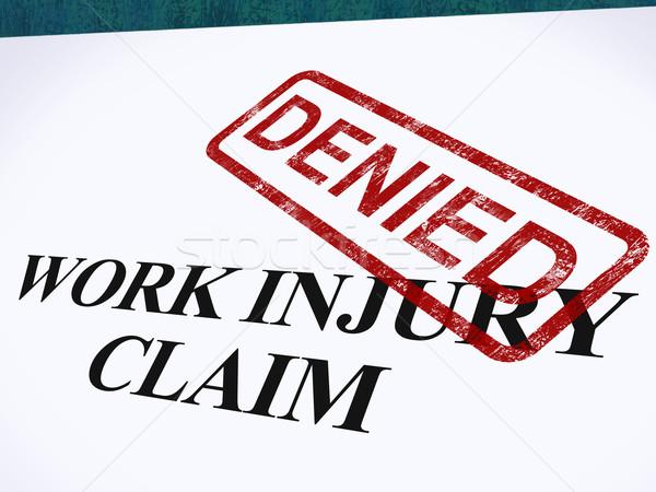 Trabalhar ferimento reivindicar médico despesas Foto stock © stuartmiles