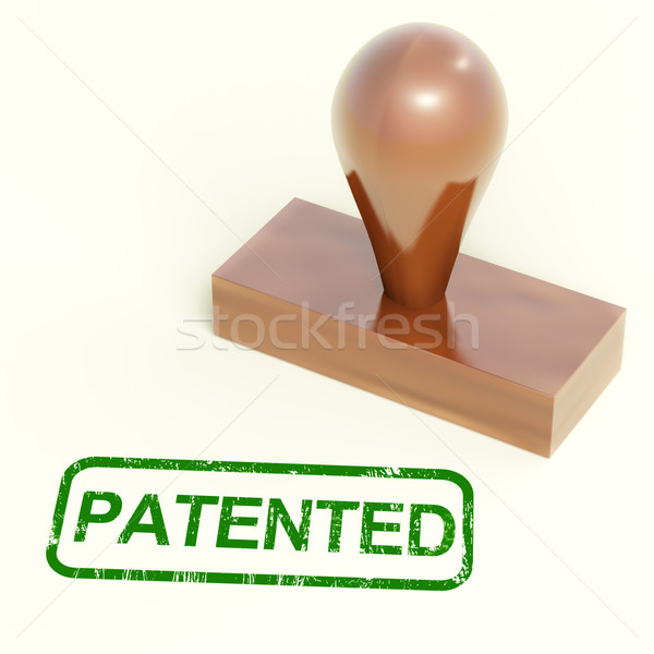 Patented Stamp Shows Trademark Patent Or Registered Stock photo © stuartmiles