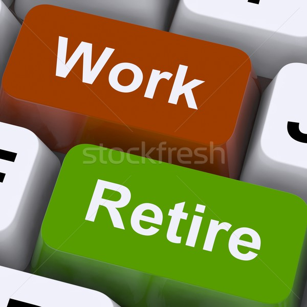 Work Or Retire Signpost Shows Choice Of Working Or Retirement Stock photo © stuartmiles