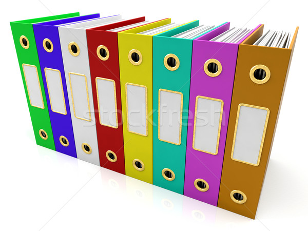 Row Of Colorful Files To Get Organized Stock photo © stuartmiles
