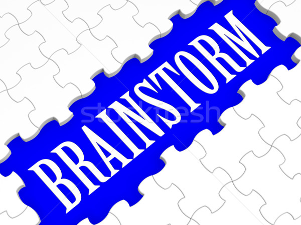 Brainstorm Puzzle Showing Creative Ideas Stock photo © stuartmiles