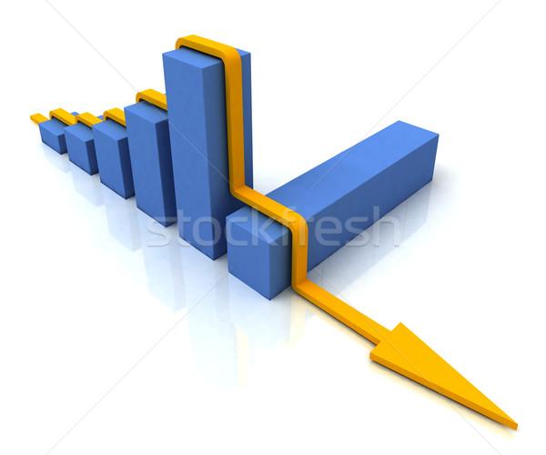 Ligne graphique à barres résultat budgétaire graphique Photo stock © stuartmiles