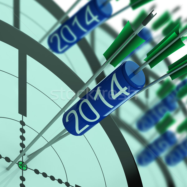 2014 Accurate Dart Target Shows Successful Future Stock photo © stuartmiles