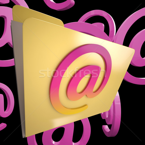 Email Folder Shows Internet Message Sorted Files Stock photo © stuartmiles