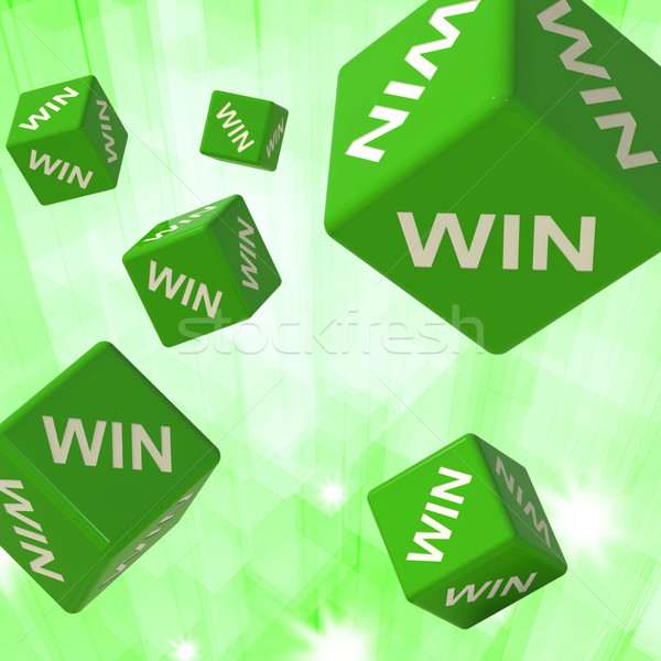 Win Dice Background Shows Triumph Stock photo © stuartmiles