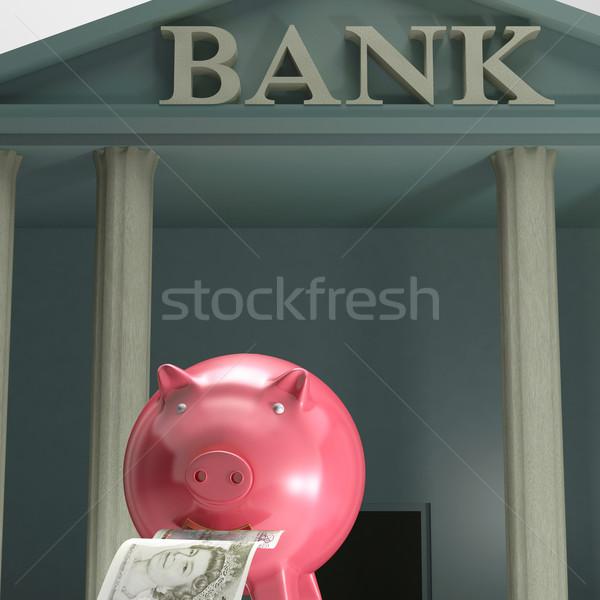 Tirelire banque sécurisé économies monétaire sécurité Photo stock © stuartmiles