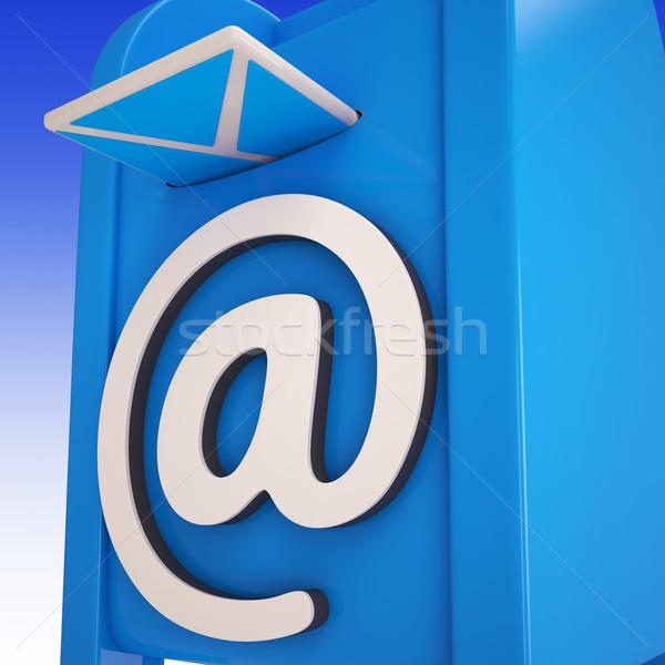 Courriel boîte boîte de réception messages web Photo stock © stuartmiles