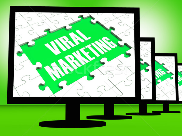 Viral marketing comunidades anúncio internet Foto stock © stuartmiles