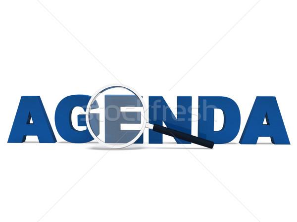 Agenda parola calendario programma significato Foto d'archivio © stuartmiles