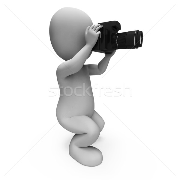 Photos Character Shows Digital Dslr And Photography Stock photo © stuartmiles