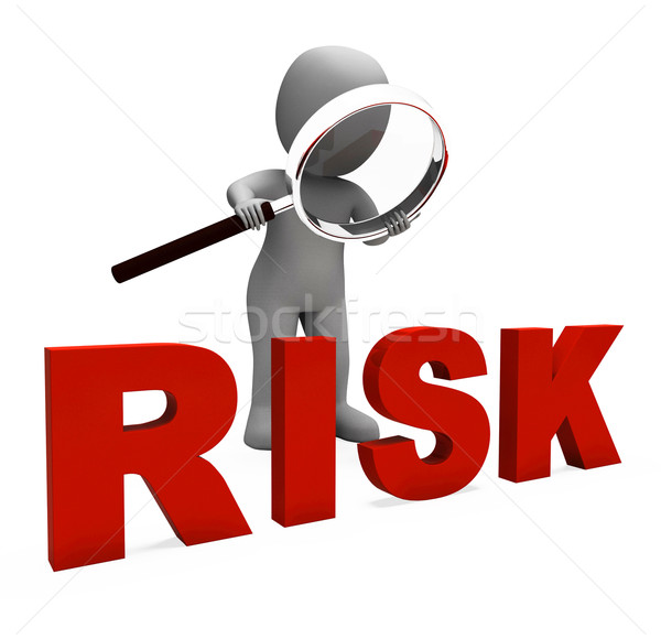 Risky Character Shows Dangerous Hazard Or Risk Stock photo © stuartmiles