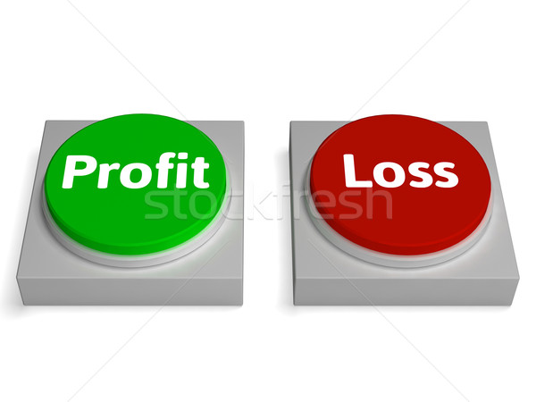 Profit Loss Buttons Show Revenue Or Deficit Stock photo © stuartmiles