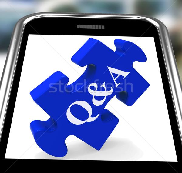 Smartphone domande risposte informazioni Foto d'archivio © stuartmiles