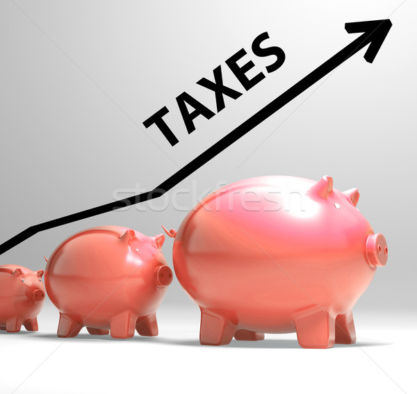 Taxes Arrow Shows Higher Taxation And Levies Stock photo © stuartmiles