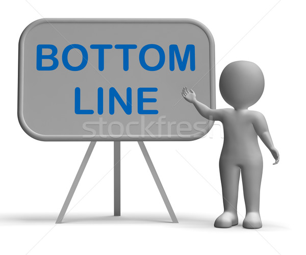 Bottom Line Whiteboard Shows Reduce Costs Grow Income Stock photo © stuartmiles