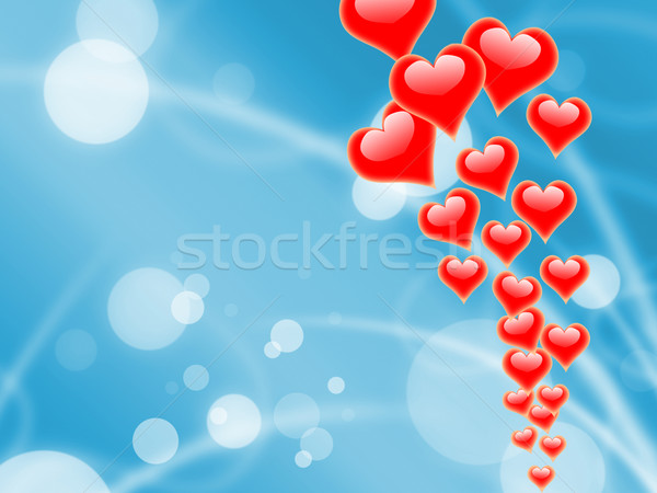 Hearts On Sky Shows Romantic Freedom Or Peacefulness Stock photo © stuartmiles