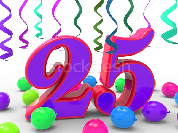 Szám húsz öt buli születésnapi buli ünneplés Stock fotó © stuartmiles