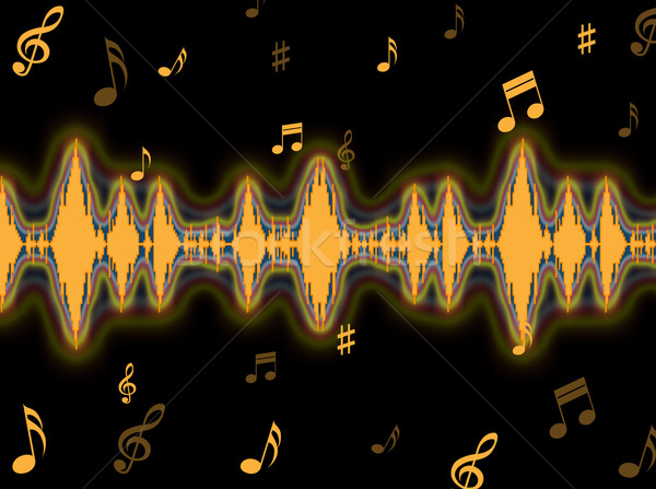 Sound Wave Background Means Frequency Amplifier Or Sound Mixer Stock photo © stuartmiles