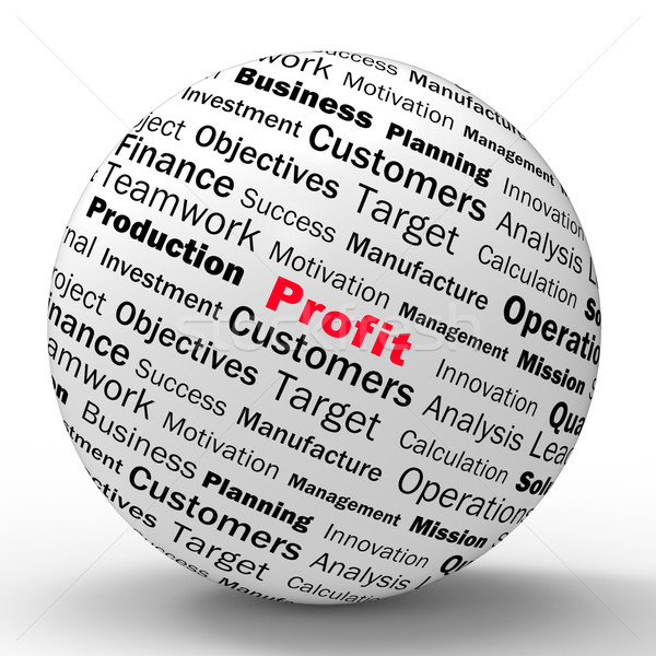 Profit Sphere Definition Shows business Earnings And Incomes Stock photo © stuartmiles