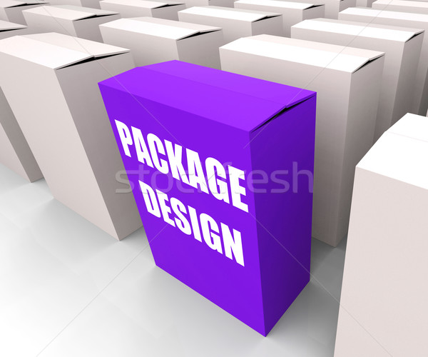 Package Design Box Infers Designing Packages or Containers Stock photo © stuartmiles