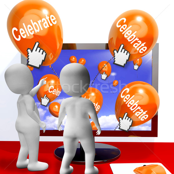 Celebrate Balloons Mean Parties and Celebrations Internet Stock photo © stuartmiles