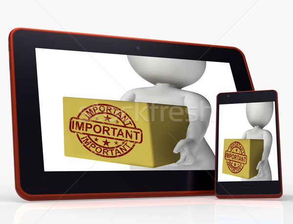 Important Box Tablet Shows Significant And High Priority Product Stock photo © stuartmiles