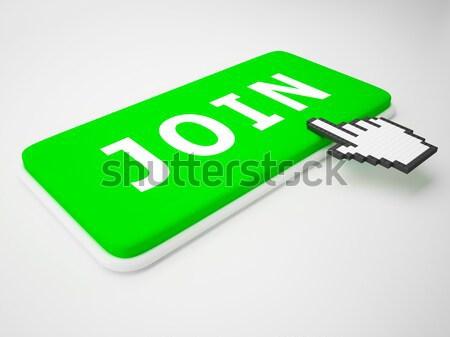 Cursor mano clave espacio de la copia haga clic aquí Foto stock © stuartmiles