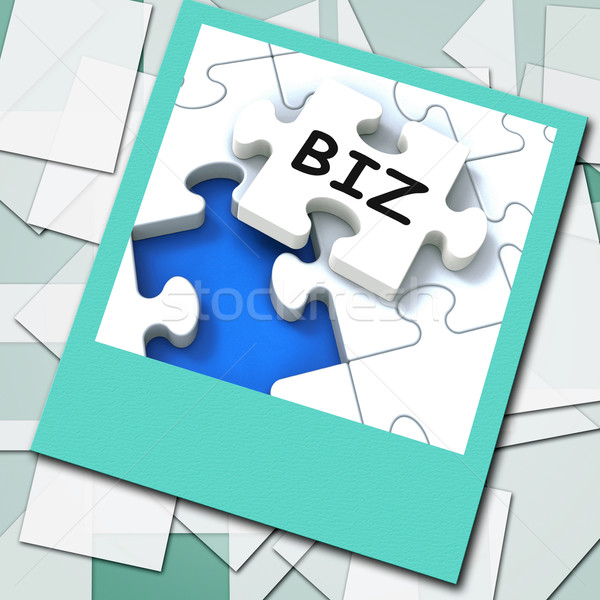 Biz Photo Means Internet Company Or Commerce Stock photo © stuartmiles