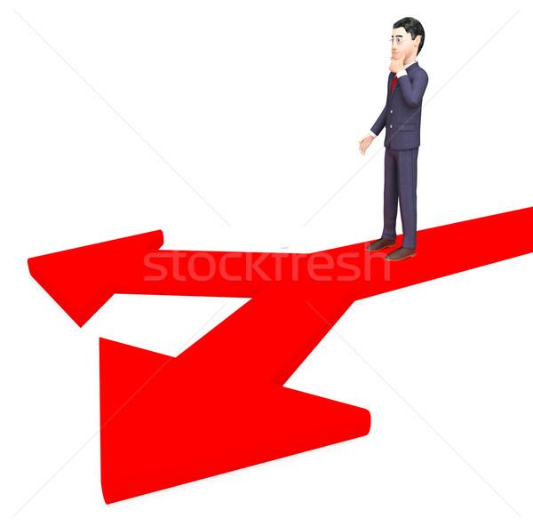 üzletember határozatlan út vállalati cég opció Stock fotó © stuartmiles