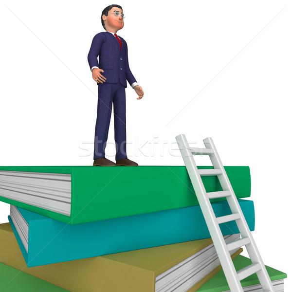 бизнесмен книгах университета знания советник Сток-фото © stuartmiles