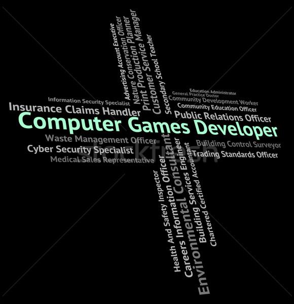 Stockfoto: Computer · games · ontwikkelaar · baan · woord