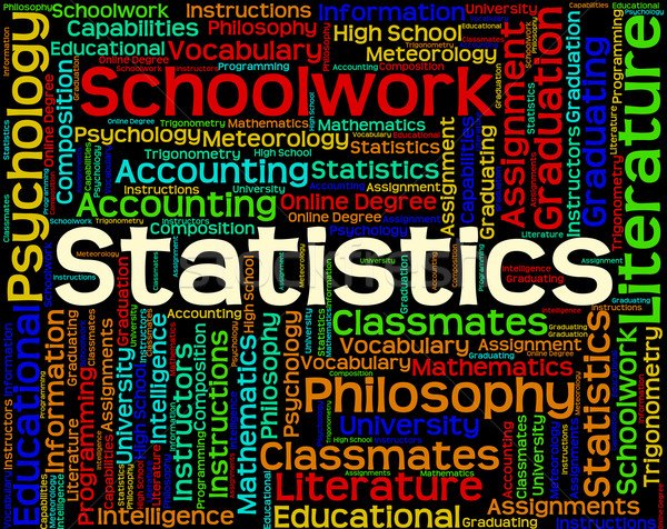 Statistics Work Shows Analysing Stats And Word Stock photo © stuartmiles