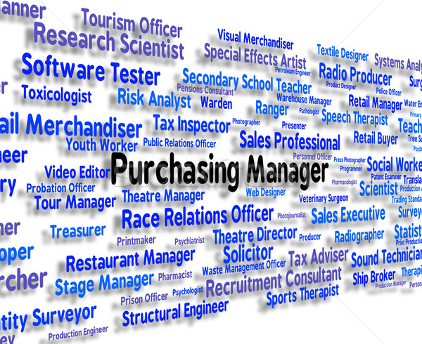 Purchasing Manager Indicates Word Client And Buy Stock photo © stuartmiles