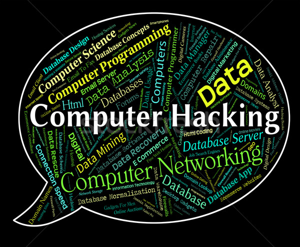 Computer Hacking Represents Communication Computers And Spyware Stock photo © stuartmiles