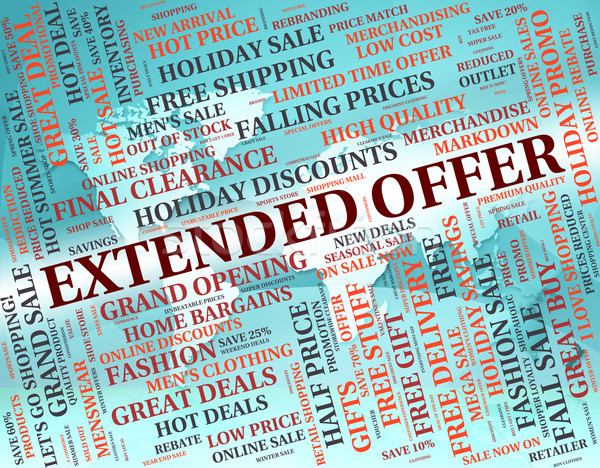 Extended Offer Means Save Sales And Savings Stock photo © stuartmiles