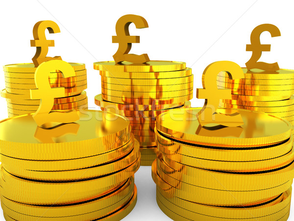 Pound Cash Represents Capital Pounds And Money Stock photo © stuartmiles
