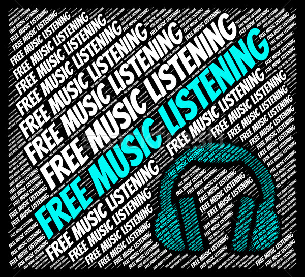 Free Music Listening Shows Sound Tracks And Gratis Stock photo © stuartmiles
