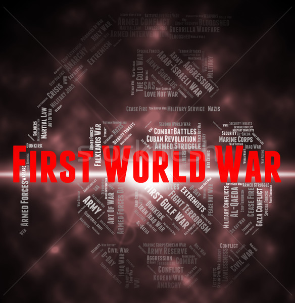 First World War Indicates Triple Alliance And Europe Stock photo © stuartmiles