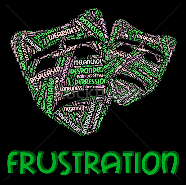 Frustration Word Means Frustrating Vexed And Angered Stock photo © stuartmiles