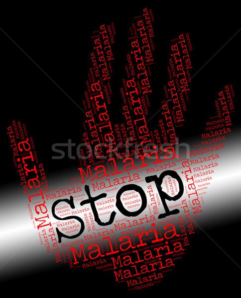 Pare malária não controlar aviso Foto stock © stuartmiles