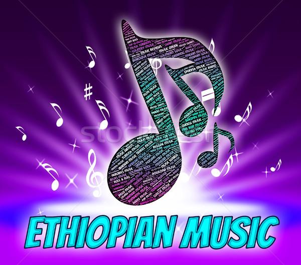 Ethiopian Music Indicates Sound Track And Republic Stock photo © stuartmiles