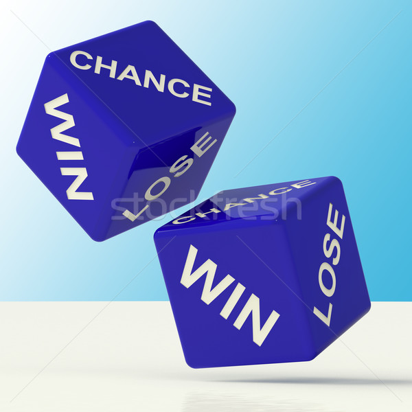 Chance Win Lose Dice Showing Luck Stock photo © stuartmiles