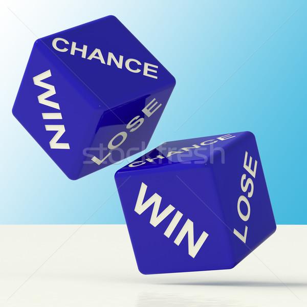 Esély győzelem elveszít kocka mutat szerencse Stock fotó © stuartmiles