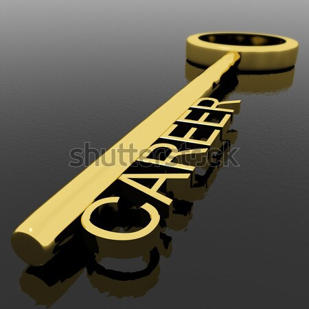 Key With Success Text As Symbol Of Winning And Victory Stock photo © stuartmiles