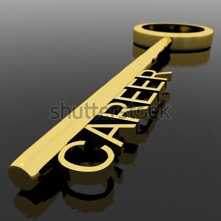 Kulcs siker szöveg szimbólum nyerő győzelem Stock fotó © stuartmiles