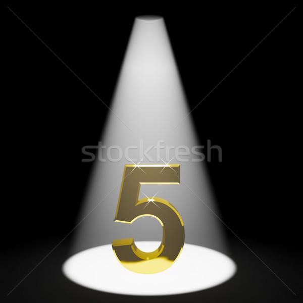 Stok fotoğraf: Altın · 3D · numara · yıldönümü · doğum · günü · imzalamak