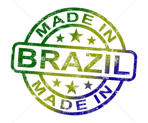Brazilië stempel product produceren tonen Stockfoto © stuartmiles