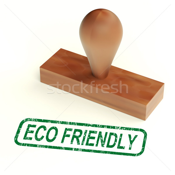 Eco Friendly Stamp As Symbol For  Recycling Or Nature Stock photo © stuartmiles