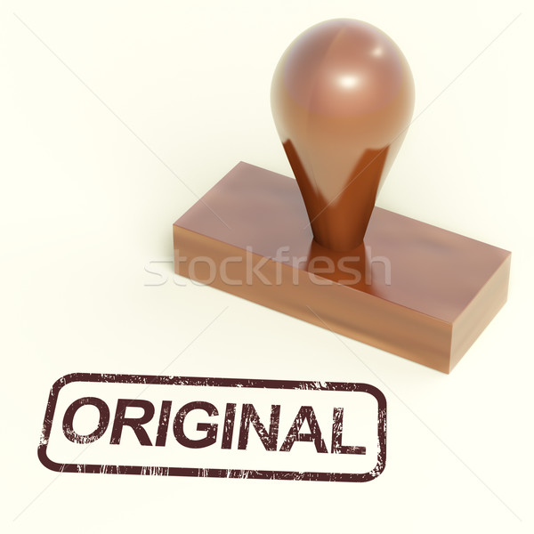 Stock fotó: Eredeti · bélyeg · termékek · igazi · eredeti · mutat